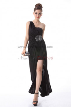 Hand beading One Shoulder slit Elegant Prom Dresses np-0197