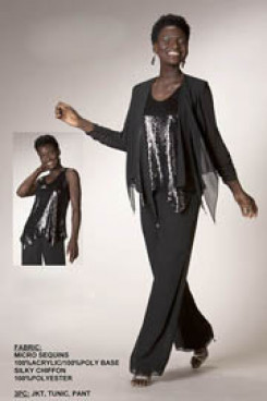 Charcoal beautiful mother of the bride pant suits with sequins vest nmo-155