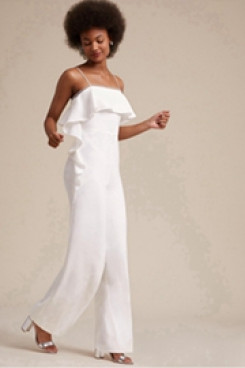 9a661409f68 Bridal Jumpsuit Spaghetti pants for Beach weeding wps-106