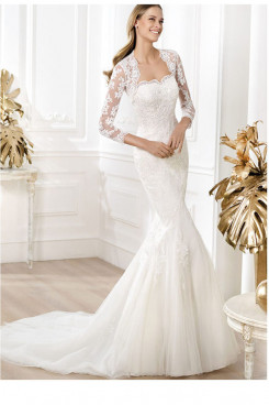 Mermaid Chapel Train Elegant  wedding dresses nw-0153