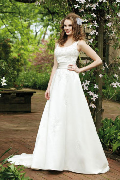 Chest Appliques Tank Scoop cheap Good comment wedding dress nw-0268