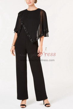 Chiffon Mother of the bride Jumpsuit Women Evening dressy nmo-379