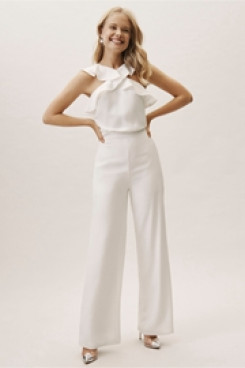 1ae12fff2ff lovely Ruffles Bridal Jumpsuits for Beach wedding wps-134