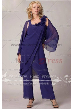 chrap Chiffon mother of the bride pant suits 2014 Latest Fashion nmo-017