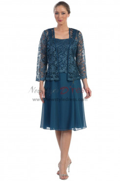 Dark Blue Dressy Knee-Length Mother Of The Bride Dress nmo-331