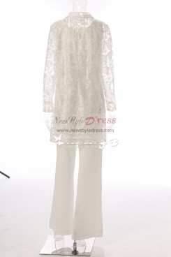 Ivory Mother of the bride lace trousers dress Elegant pant suits MT0017010