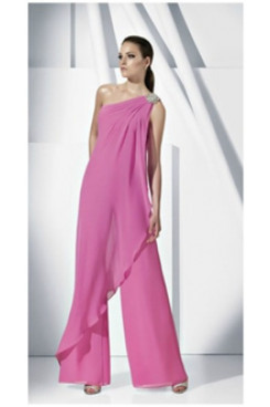 chiffon Bridesmaids Jumpsuit Dresses lovely Mother of the bride pantsuit nmo-160