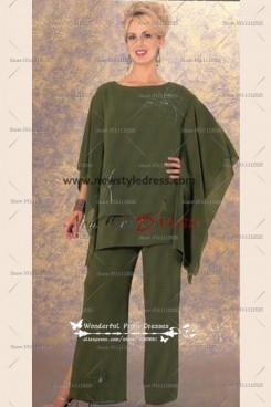 Hand Beading Dark Green Latest Fashion Elegant Women's outfit nmo-131
