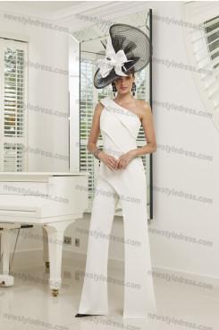 Hot Sale One Shoulder Ivory Women's jumpsuits nmo-678