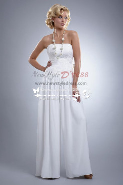 Informal wedding dresses chiffon bridal jumpsuit for beach wps-024