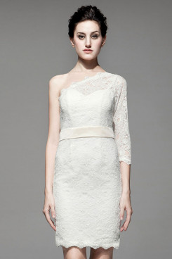 Lace with sleeves Short Mother Of the Dresses 2014 Hot Sale nm-0187