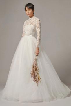 Long Sleeves Disassemble Wedding Jumpsuit Lace Bridal Dress wps-217