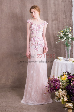 Lovely Pink Lace Prom dresses Spring New Arrival