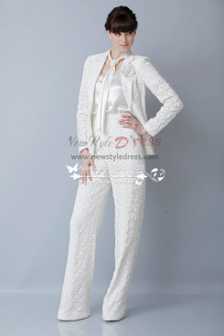 Modern fashion  Spring Bridal Lace Pant Suits for wedding wps-064