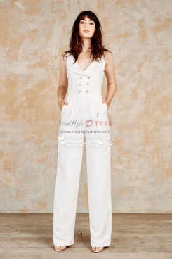 Modern fashion wedding jumpsuit dresses wps-092