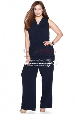 Modern V-Neck jumpsuits Women's Apparel for wedding nmo-166