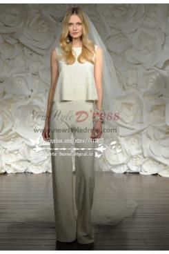 Modern Wedding bride suit dress wps-052