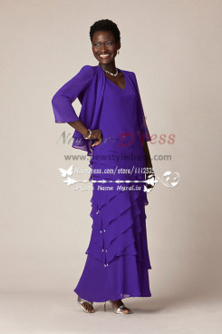 Mother of the bride set Tiered dress and jacket cms-088