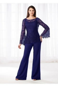 Royal blue  Mother of the bride Trousers suit Women's pant suits dresses nmo-532