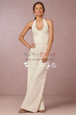 f1d890af9ca New Arrival bridal wedding dress charming lace halter dress jumpsuit wps-048