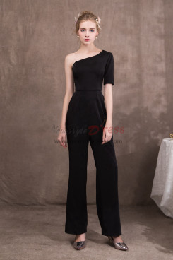 New arrival Women Black One Shoulder Prom dressy Jumpsuit NP-0419