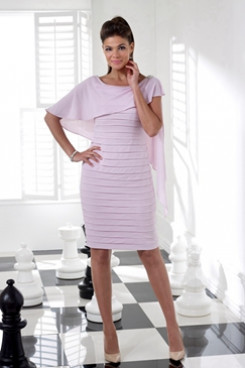 2020 Knee-Length Dress Pink Mother of the bride dress NMO-645