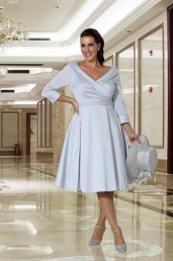 A-Line Short Dress Sky Blue Mother of the bride dresses NMO-647