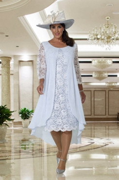Sky Blue lace Mother of the bride dress Dressy Dresses NMO-665