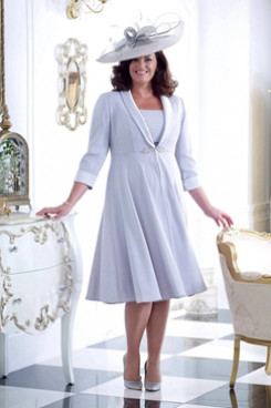 Two Pieces A-line Dresses Plus size Mother of the bride Dresse NMO-667
