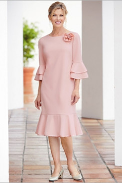 2020 Sping Pink Mid-Calf Mother of the bride dresses NMO-670