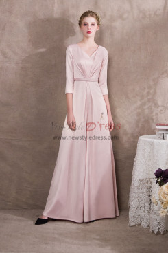 Pearl Pink Satin Bridal Jumpsuits three quarter sleeve NP-0404