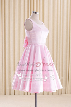 Pink Homecoming dress Knee-Length bridesmaid dress