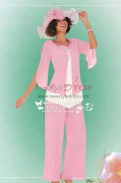 Pink Lovely mother of the bride pantsuit for wedding Custom made nmo-221