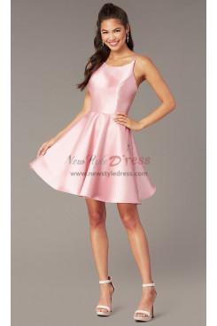 Pink Under $100 Homecoming Dress, A-line Graduation Party Dress sd-025-4