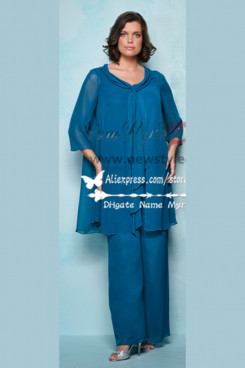 d1308f23bcc Plue Size Chiffon grandma of the bride pant suit customize nmo-210