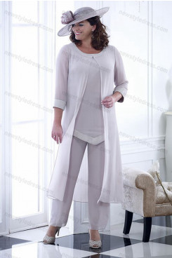 Plus size Mother of the bride Trousers women's outfits 3 ps outfits nmo-698