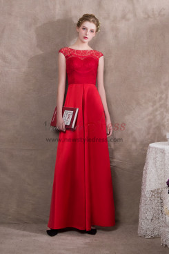 Red Satin Prom dresses Bridal Jumpsuits Loose Pants NP-0396