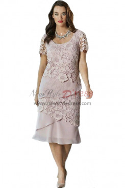 Rotation Tiered Pearl Pink Lace Mother Of The Bride Dress nmo-354