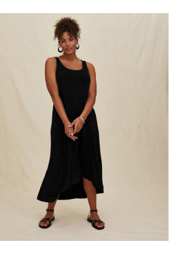 Simple Black Women's Dresses, Discount Midi Dresses nmo-714