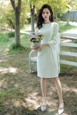 Simple Women's Dress, Discount long Sleeves Short Dresses cso-006
