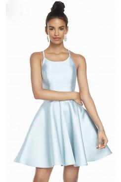 Sky Blue A-line Homecoming Dress,Under $100 Short Party Dress sd-025-5