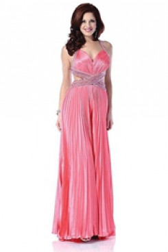 Spring sweet pink Prom dresses bridal jumpsuit wps-178