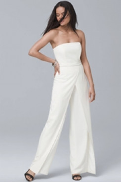 Strapless Bridal Jumpsuits for Wedding payty wps-160