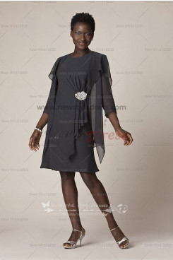 two piece mother of the bride dress with  jacket customizable cms-047