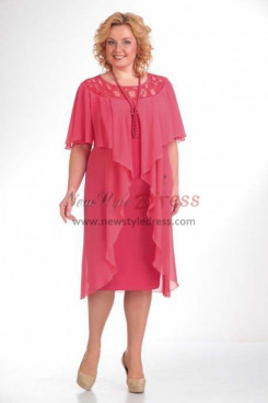 Watermelon Hand Beading Loose Mother Of The Bride Dresses Free Shipping