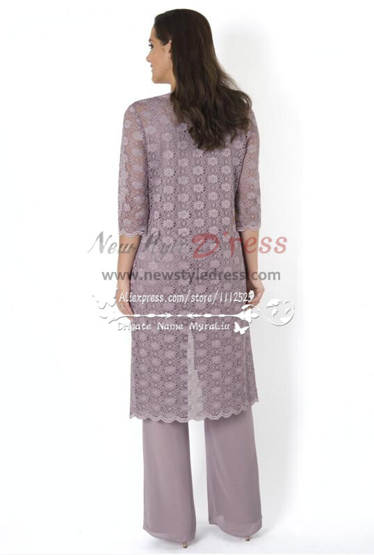 Elegant Mother Of The Birde Pant Suit 3 Piece Outfit With