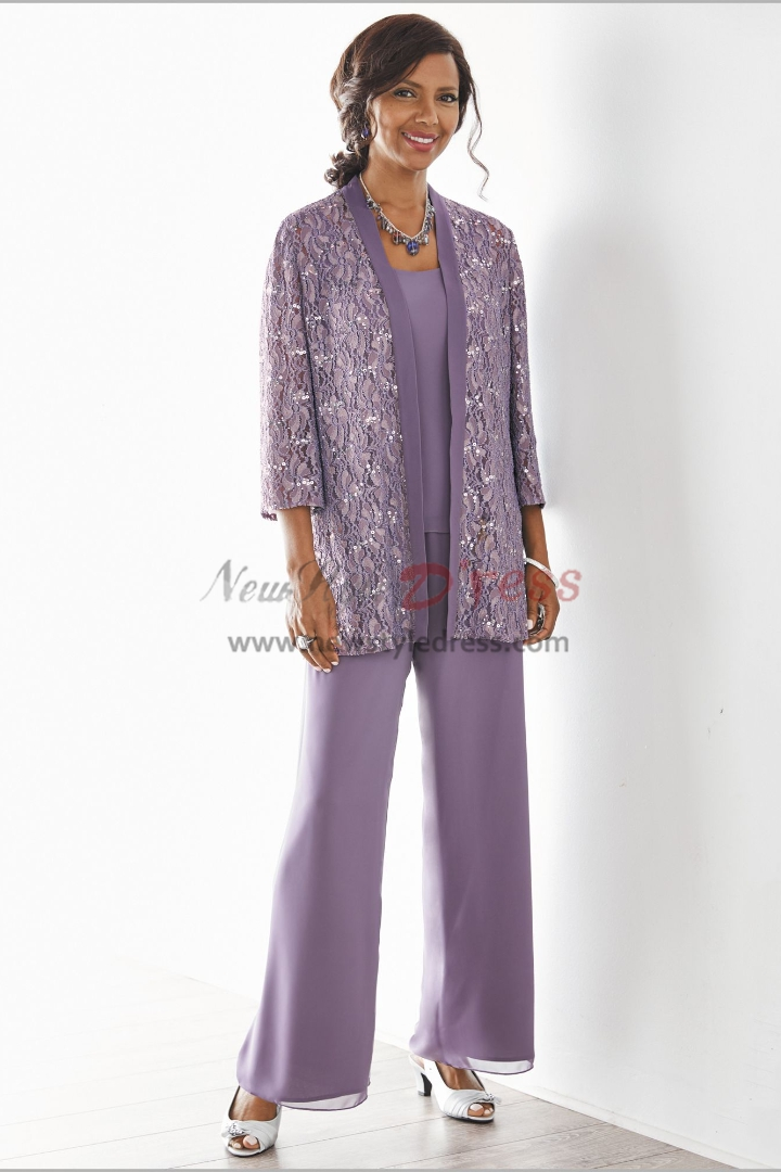 Champagne Mother of the bride pant suits dresses Elastic ...