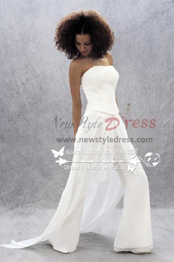 Glamorous Jumpsuit Bride Pants Suit For Wedding Wps 051