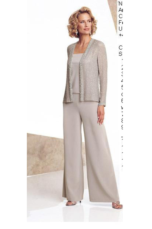 Elastic pants Dressy Mother Of The Bride Pants Suit nmo-132