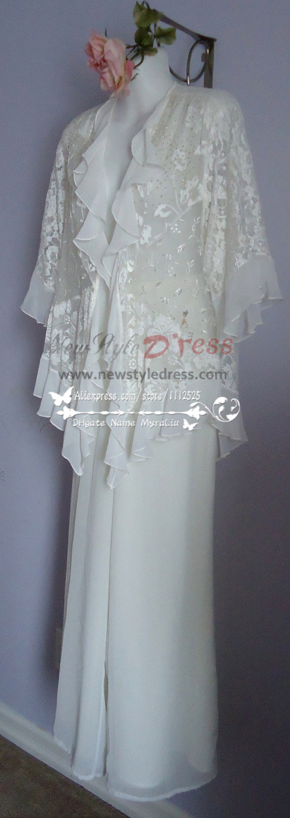 Ivory lace pant suits for the mother of the bride outfits